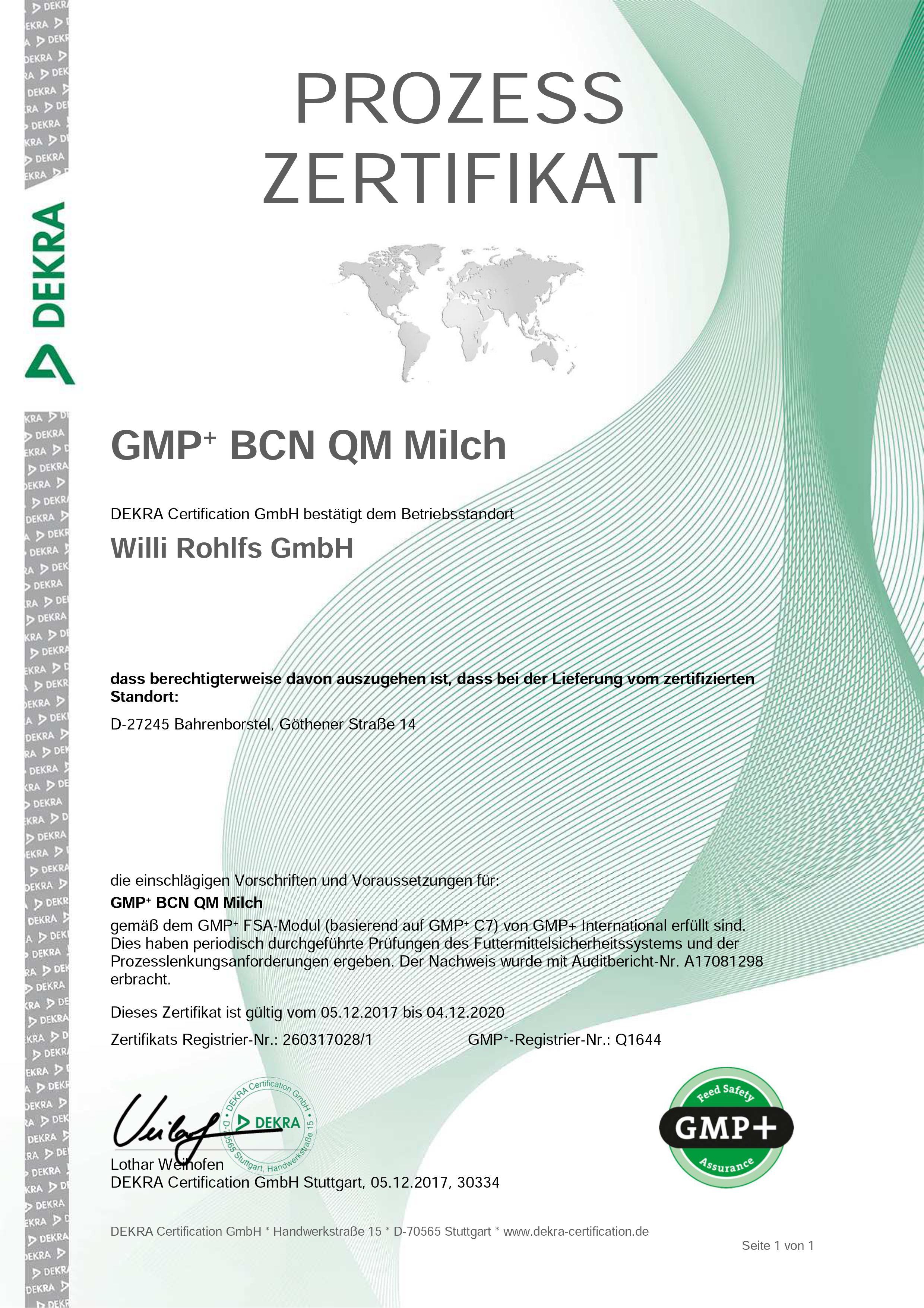 Gmp QM Milch